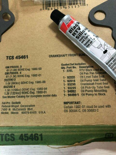 Engine Crankshaft Seal Kit Front Fel-Pro TCS 45038