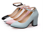 Women-039-s-Mary-Jane-Buckle-Ankle-Strap-High-Heels-Pointed-Toes-Block-Shoes-Casual thumbnail 2