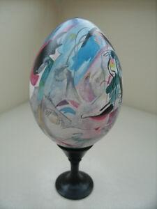 most expensive art item on ebay wooden egg painted a la. Black Bedroom Furniture Sets. Home Design Ideas