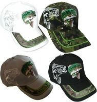 Kiss My Bass Fishing Sports Ball Cap/hat - Largemouth 3-d Embroidery
