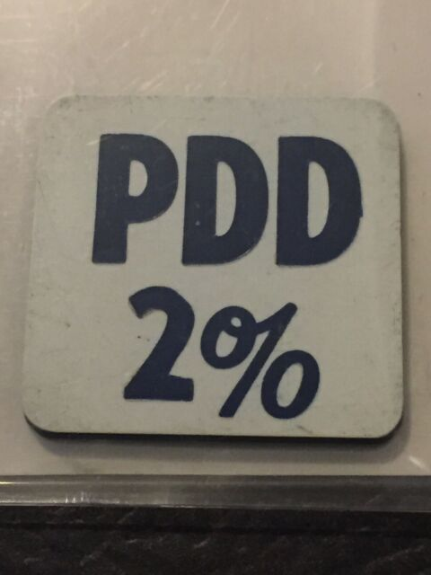Vintage Token Square PDD 2% Dairy Coin Token T7