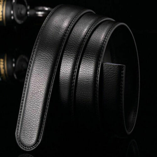 Black Luxury Men Leather Belt Wristband Strap Without Automatic SALE Buckle R8E3