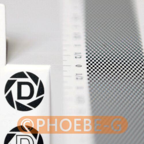 6pcs//Lot DSLRKIT Lens Focus Calibration Tool Alignment Ruler Folding Card