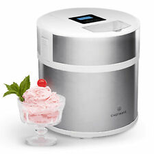 ChefWave Elado 2 Qt Automatic Ice Cream Maker with 2 Reusable Storage Container