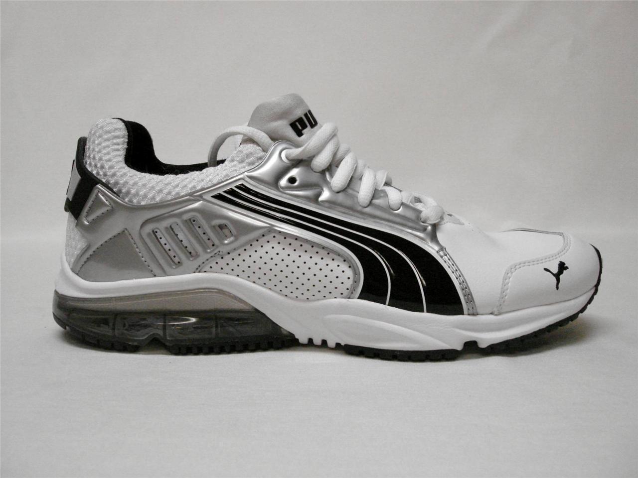 Nuevo En Caja PUMA POWERTECH BLAZE META Zapatos para hombre blancoo Plateado     7.5  Bonito Zapato's