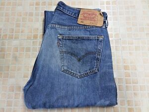 Grade-a-jeans-Levis-501-Azul-recta-Mens-W34-L34-Vintage-501s-WB111