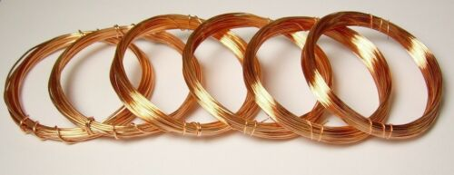 COPPER WIRE 6 ASSORTED 2 OZ EACH COIL OF 182022242628 GA. Soft