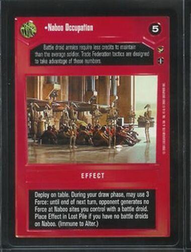 Star Wars CCG Theed Palace Rare Naboo Occupation