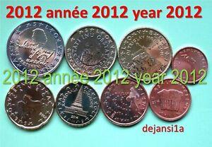 Slovénie SÉRIE COMPLÈTE 2012: 8 pièces euro: 1 cent à 2 € neuves - de coffret BU