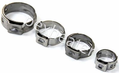 """Stainless Steel Cinch Clamps SSC by Oetiker Non-Slip Lot of 50-1//2/"""" PEXGrip"""