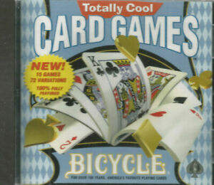Bicycle Totally Cool Card Games Jewel Case (PC, 1999) SEALED NEW