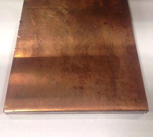 "1/2"" thick x 6"" wide x 12"" long Flat Copper Bar Stock - C110 Ground / Buss Bar"
