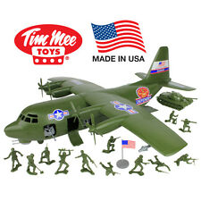 TimMee Processed Plastic HERCULES C130 GUNSHIP Tim Mee Army Men Airplane Playset