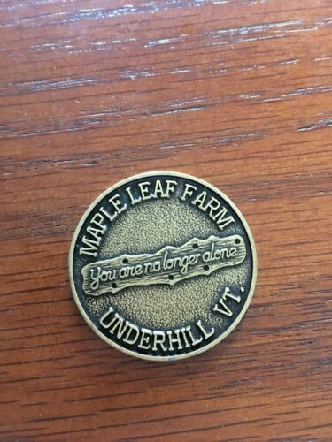 Maple Leaf Farm Underhill Vermont VT Commemorative Coin Bronze Medal Addiction