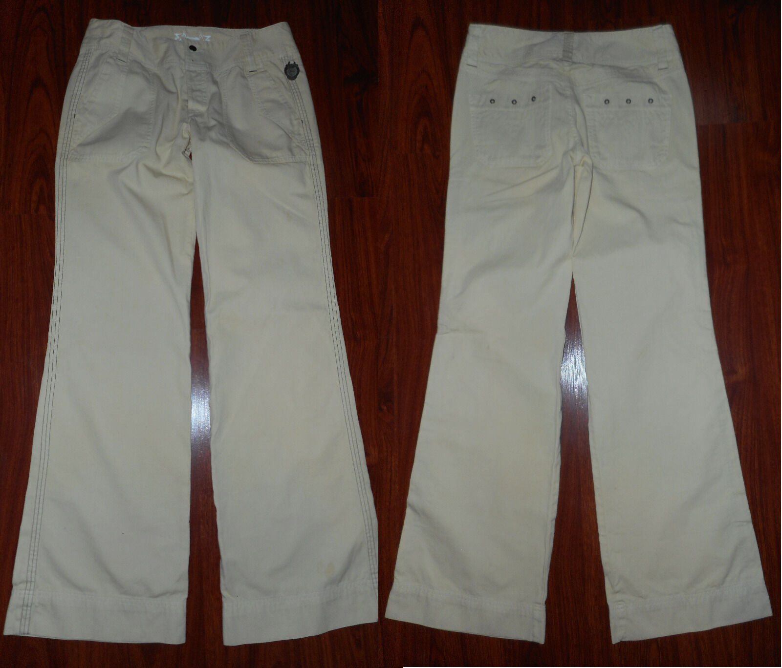 DIESEL Womens Casual Pants Size 30-34 Yellow Cotton