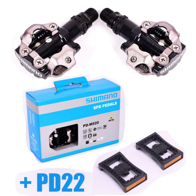 SHIMANO PD-M520 Bike Cycling Pedals Clipless with SPD cleats Black