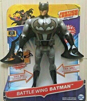 Justice League Action Battle Wing Batman Figure w// 15 Lights /& Phrases Sounds