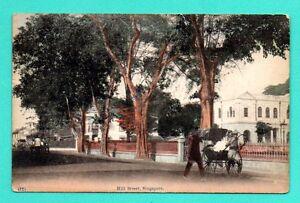 Singapur-Rikscha-Hill-Strasse-Vintage-Postkarte-677