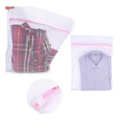 Zipped Wash Bag Laundry Washing Mesh Net Lingerie Underwear Bra Clothes S M L