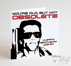 The terminator personalised birthday card arnold schwarzenegger ebay image is loading the terminator personalised birthday card arnold schwarzenegger bookmarktalkfo Image collections