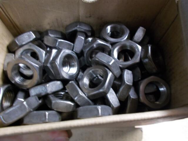 100/St/ück Pcs M4/4/mm verzinktem Stahl Muttern DIN 934/Klasse 8