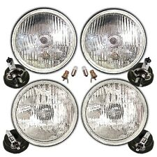 "5 3/4"" H1 H4 Halogen Headlamp Headlight Conversion Set"