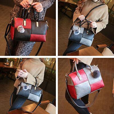 Frauen PU Lederhandtasche Umhängetasche Große Handtaschen-Schultertasche Tasche