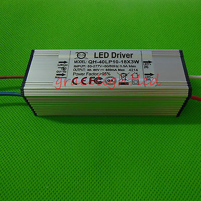 10-18X3W AC/85-277 led driver for 3w High power LED waterproof constant current