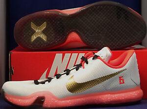 online retailer 7fc17 89868 Image is loading Nike-Kobe-X-10-iD-White-Bright-Crimson-