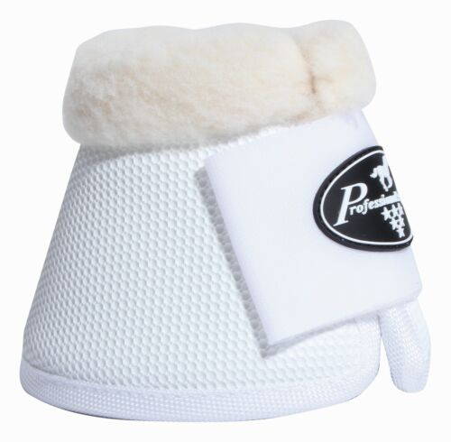 Professional/'s Choice Equine Ballistic All Purpose Fleece Bell Boots White