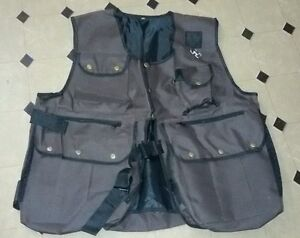New-Falconry-and-Hunting-Waistcoat-Full-Vest-Brown-All-Sizes-Fully-Adjust