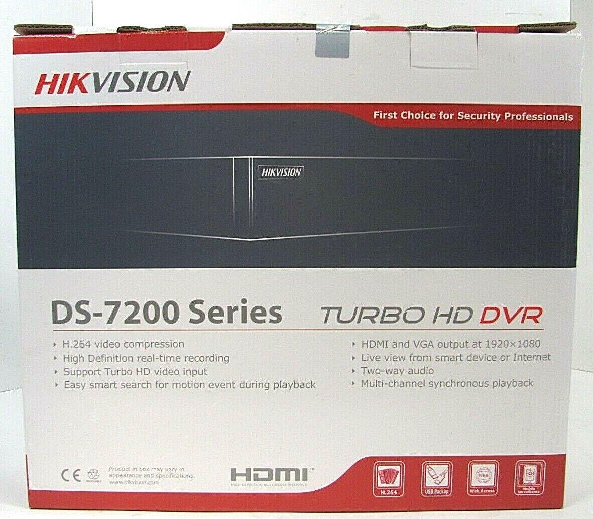 DS-7208HGHI-SH H.264 Hikvision OEM Module WH-D5208 720P REAL-TIME//1080P TRIBRID DVR AUTO-DETECT 8 Channel TURBOHD//Analog