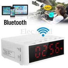 Digital LED Display Alarm Clock Bluetooth Speaker FM Radio Mp3 Player TF Snooze