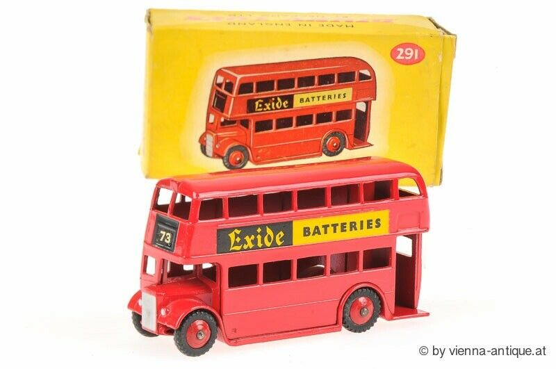 DINKY TOYS MECCANO 1 43 291 London Bus Exide TLK27981