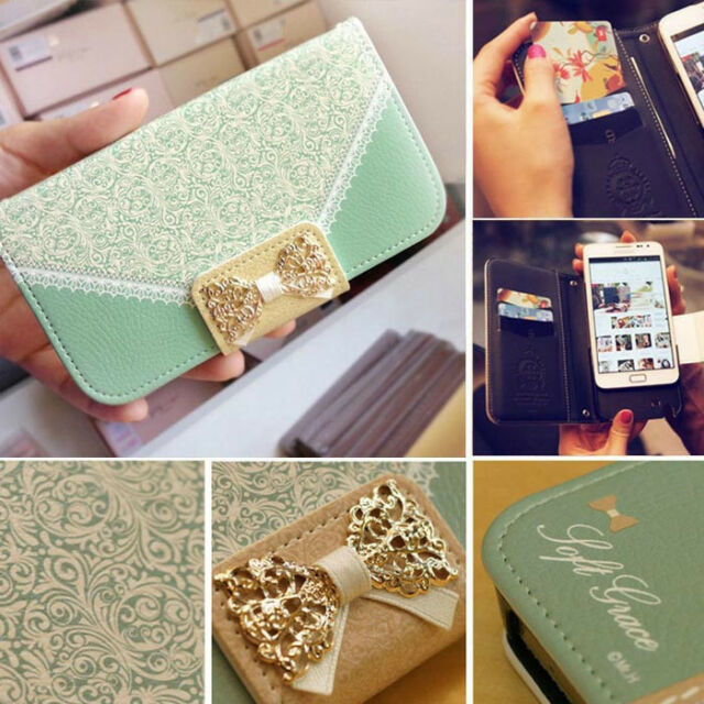 HOT Lace Wallet Flip Card Holder Leather Stand Case Cover For Apple iphone 4G/4S