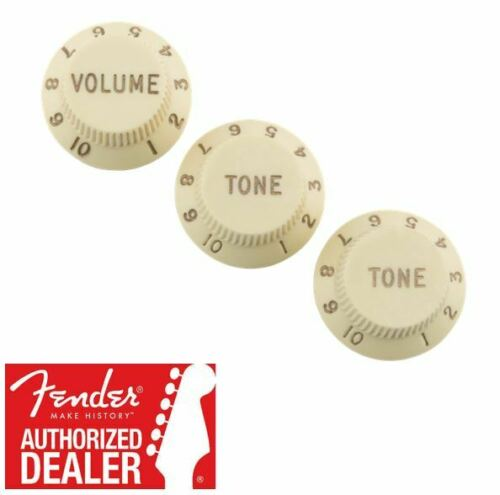 3 099-7209-000 Fender Road Worn Stratocaster Aged White Knob Set