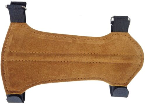 Target Fine Suede Arm Guard Size:19cm Long x 9cm Wide Archery Products.AG-216B.