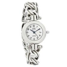 Anne Klein Ladies Sterling Silver White Dial Bracelet Quartz Watch 12-6265SIL