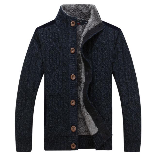 237 New fashion men's 3Colors Paul shark thick Cardigan upset Sweaters M-3XL