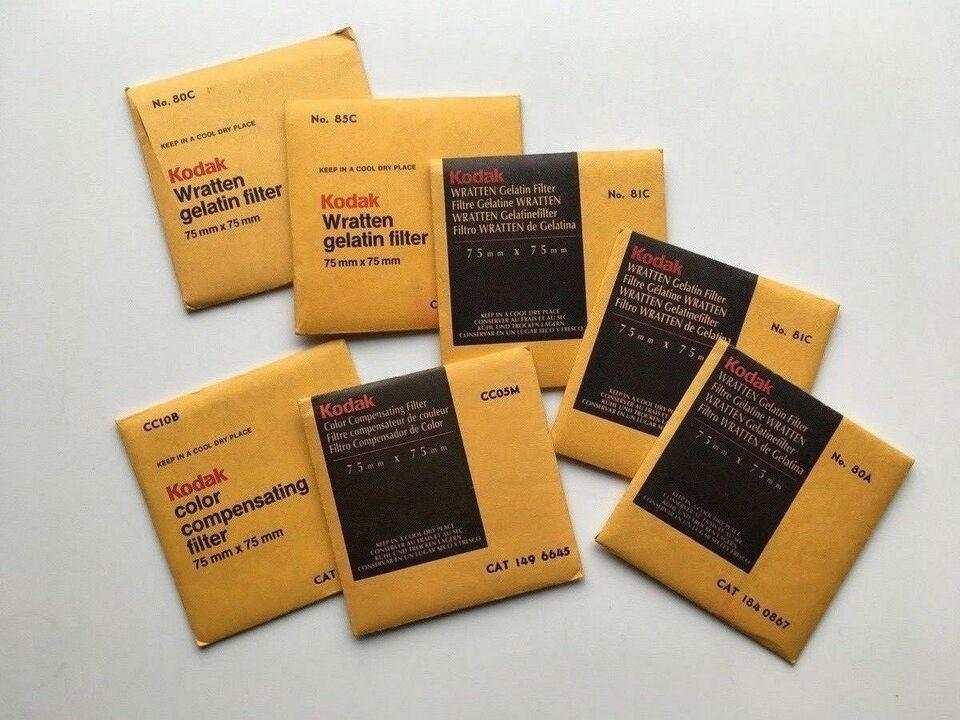 Kodak Wratten + CC gelatine filtre, Kodak, God