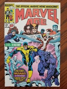MARVEL-AGE-33-WITH-X-FACTOR-1985-NEAR-MINT
