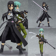 2 Pcs Sword Art Online II SAO Sinon Kirito Action Figure Figurine Collection Toy