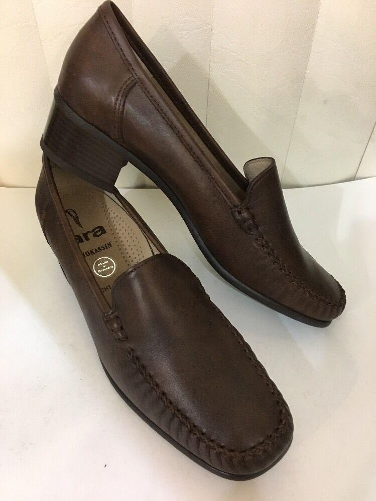 ARA Luzern braun braun braun Leather Knitted Classic Heel schuhe Größe 10 M (EU 7.5 G) e98bca