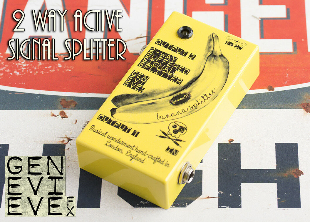 Genevieve FX 2 Way Active Bufferot Signal Splitter