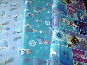 Disneys Frozen Elsa /& Anna Sisters Olaf 100/% Cotton Fabric 140cm Wide