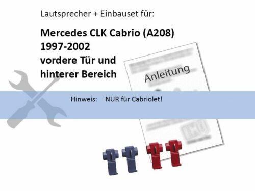 Alpine SXE1025S 180W 100 mm 2 Wege Koax für Mercedes CLK Cabrio A208