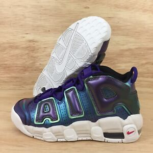 Details about Nike Air More Uptempo GS Girls Size 6.5Y Sneakers Shoe Youth Iridescent Purple