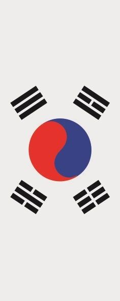 Fahne Flagge Süd Korea im Hochformat verschiedene Größen Größen Größen 7a8ff3