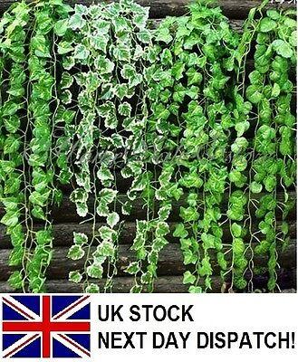Artificial Trailing Ivy Vine Leaf Garland Fern Greenery Plants Foliage Fake UK