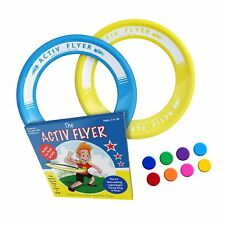 Best Kids Frisbee Rings Yellow/cyan - Top Birthday Presents & Gifts for Young 3